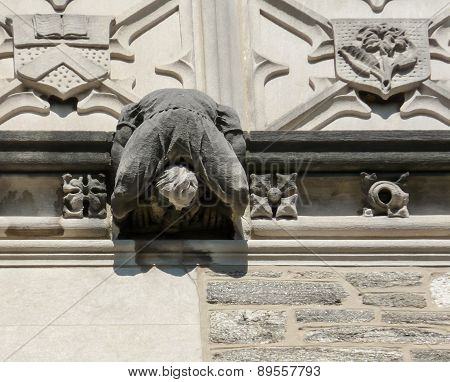 Famous Blair Arch At Princeton University Campus - Close Up To Relief