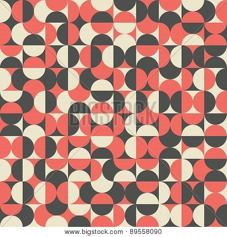 Retro seamless pattern with semicircles.
