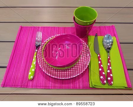 Colorful tableware