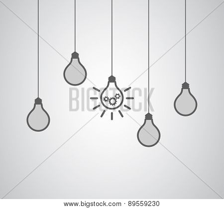 lightbulb idea concept gears cogs wheel teamwork business design