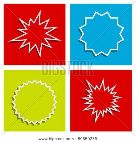 starburst splash star abstract background design set