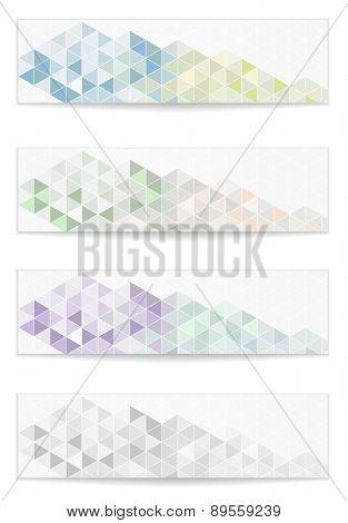 mosaic geometric website banner set