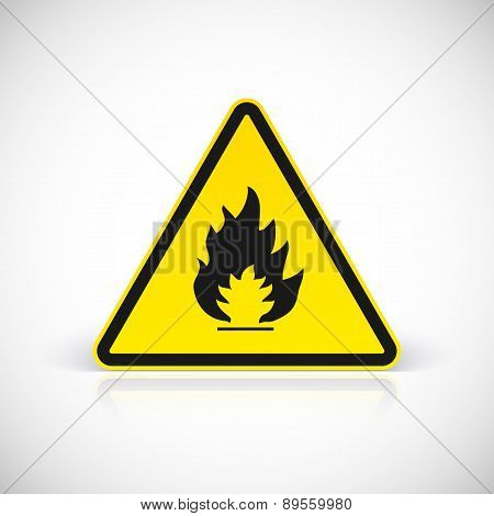 Fire symbol vector sign.