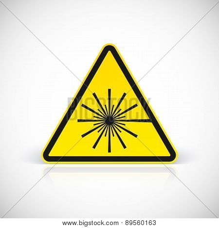 Laser Hazard warning sign.