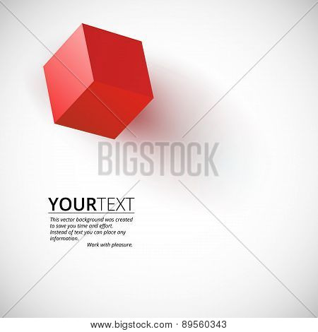 Red cube background