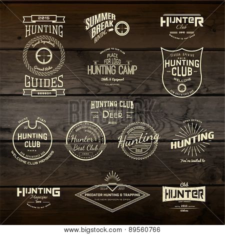 Hunting Badges Logos And Labels For Any Use