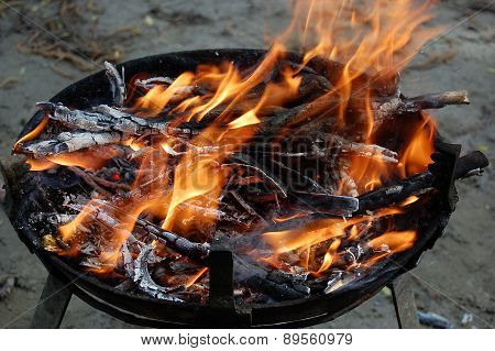 Fire For Barbecue