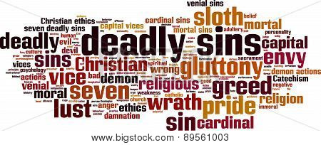 Deadly Sins Word Cloud