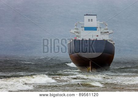 Ship In Blizzard