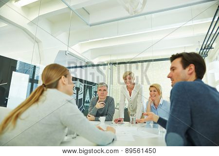 Business team having meeting in conference room in the office