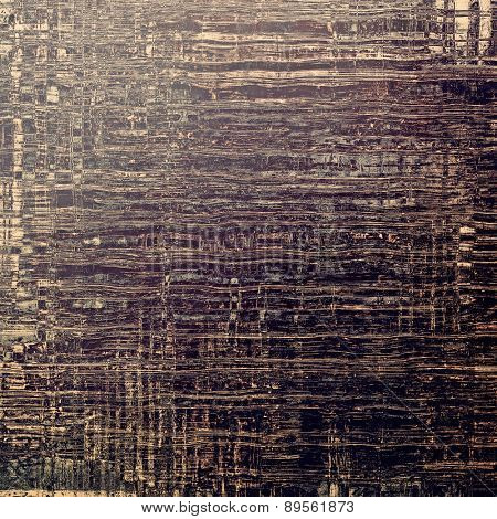 Old antique texture or background. With different color patterns: brown; gray; black