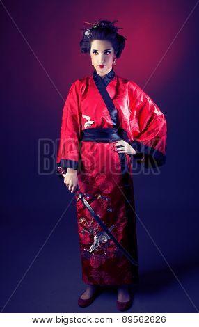 Girl in japanise style