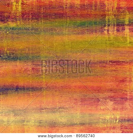 Old Texture or Background. With different color patterns: brown; pink; green; red (orange)