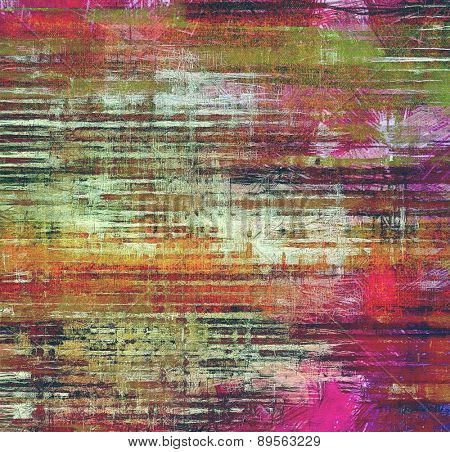 Abstract textured background designed in grunge style. With different color patterns: brown; purple (violet); green; red (orange)