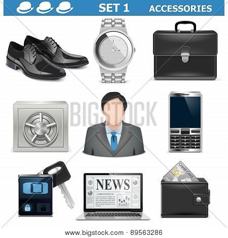 Vector Male Accessories Set 1