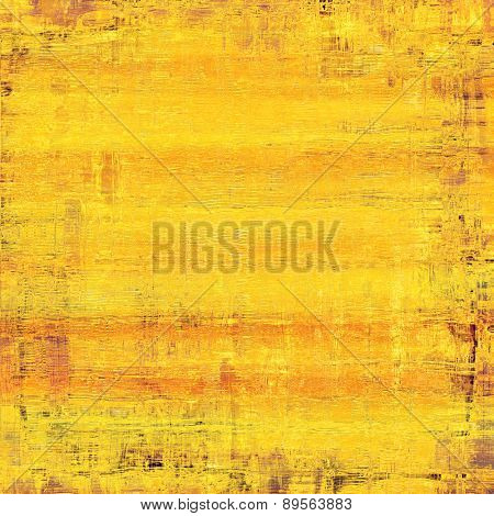 Old-style background, aging texture. With different color patterns: yellow (beige); brown