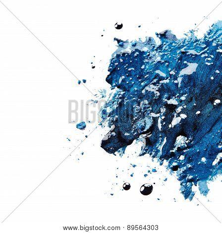 Blue Nail Polish And Eye Shadow