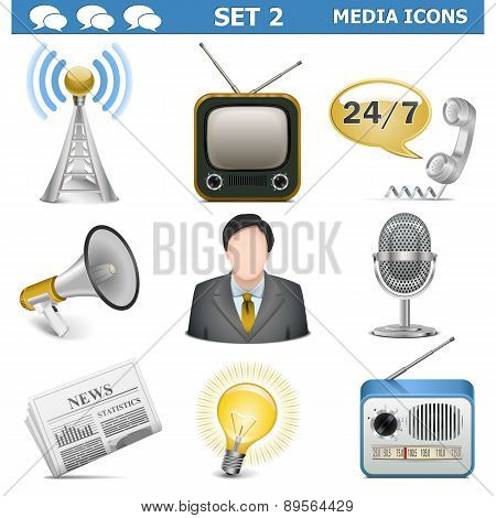 Vector Media Icons Set 2