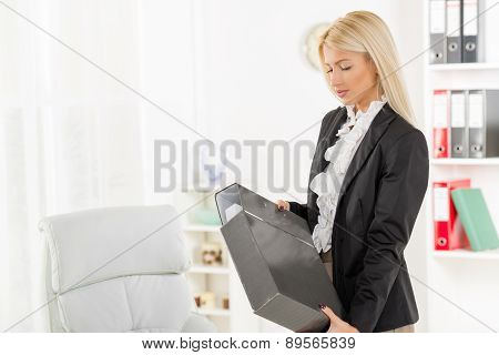 Businesswoman With Binder