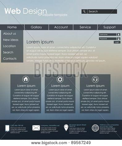 Menu Design For Web Site