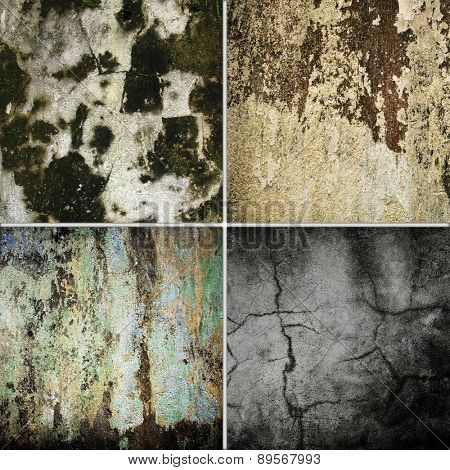 grunge wall collection set