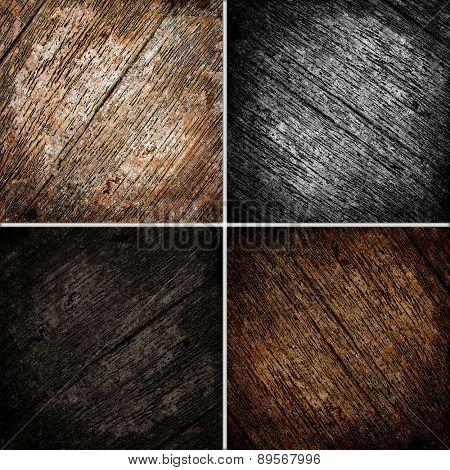 wooden texture background set
