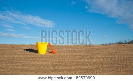 Plastic Bucket And Shovel