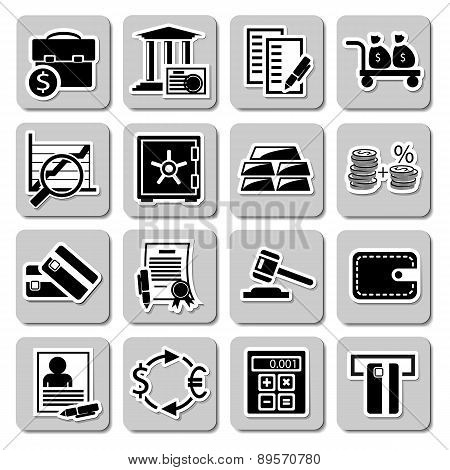 Vector set of banking icons