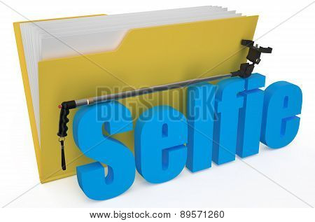 Yellow Folder With Monopod