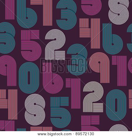 Seamless Pattern Of Numbers