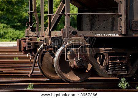 Ruedas de acero del ferrocarril moderno