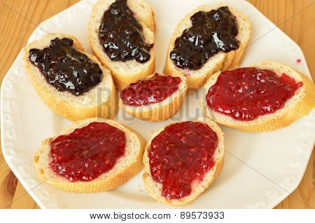 Baguettes with jam