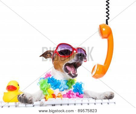 Dog Shouting On The Phone