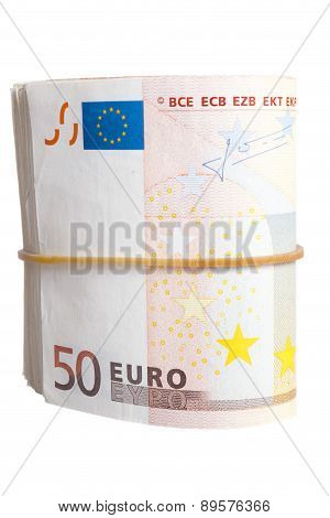 Fifty Euro Notes Bend