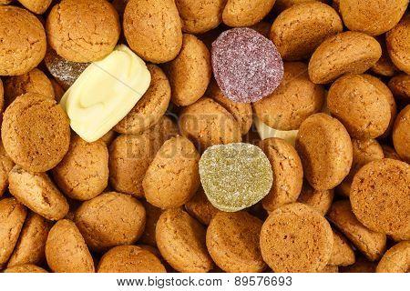 Close Up Pepernoten Sweets Sinterklaas