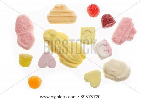 Several Colorful Sweets Sinterklaas