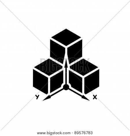 Three-dimensional design symbol