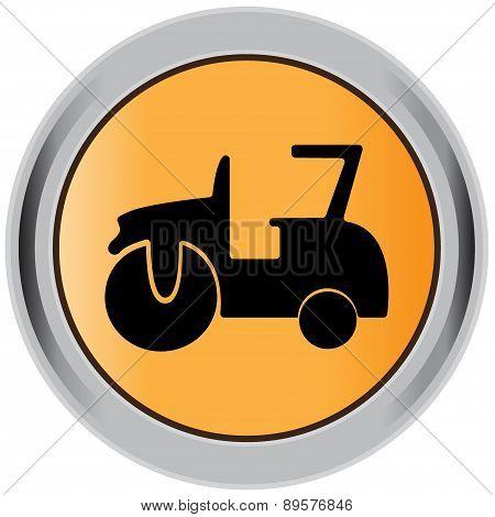 Compactor, roller, asphalting icon.