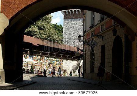 Pijarska Street in Krakow