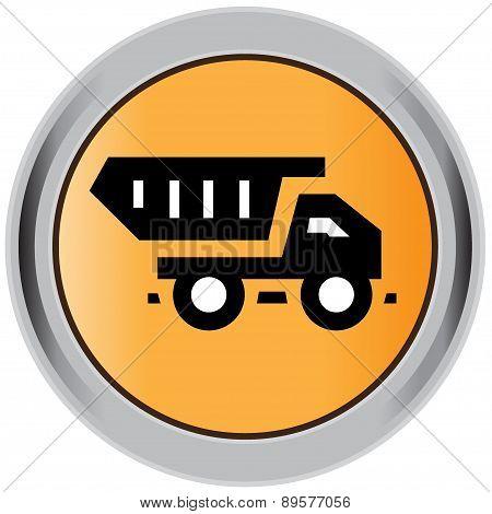 Truck, construction icon.