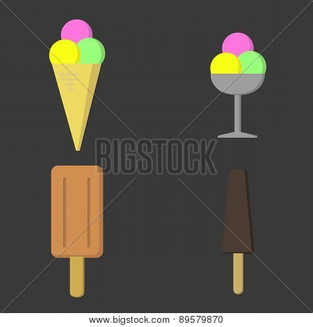 Four Ice Creams