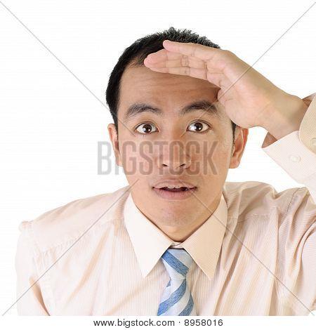 Asian Executive Looking