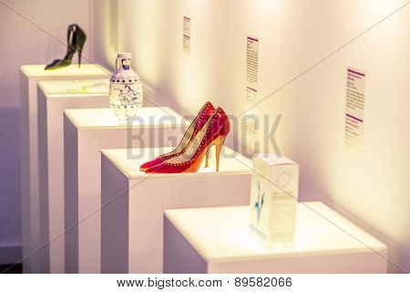 ZAGREB, CROATIA - 12 MARCH 2015: Museum items inside the Museum of Broken Relationships in Zagreb.