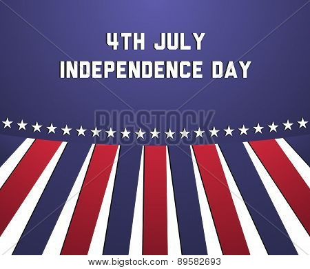 Independence Day Poster In Usa Colors