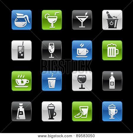 Drinks Icons. Gel Box Series