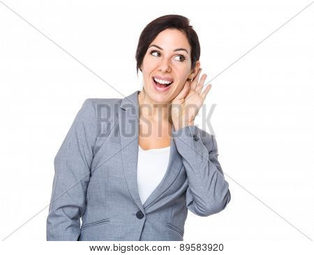 Businesswoman gossip about other