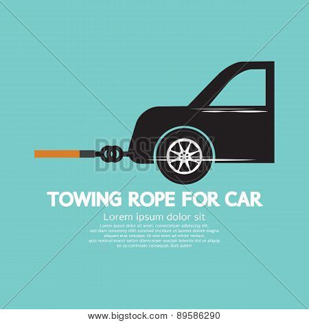 Towing Rope For Car Graphic.
