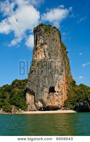 Exotic island in Phang Nga bay