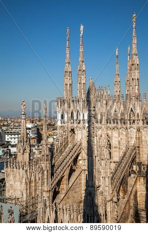 Marble Spires Of The Milan Cathedral