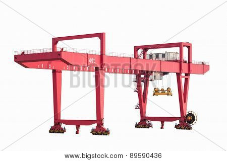 Gantry Container Crane Isolated